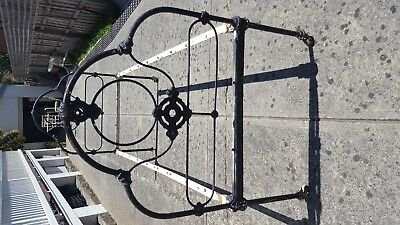 cast iron antique single bed frame