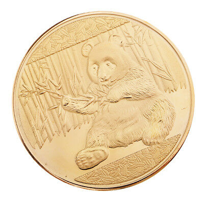 Panda Pattern Gold Plated Coins Commemorative Coin Toy Collection Art Coins