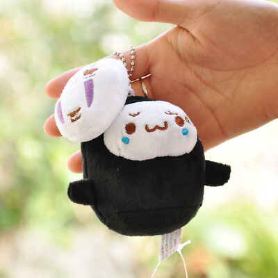 "Japan Studio Ghibli No Face Plush Keychain Spirited Away Seal Charm 4"" Plush New"