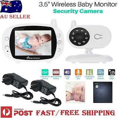 3.5 inch LCD Baby Pet Monitor Wireless Digital 2 Way Audio Video Camera Security