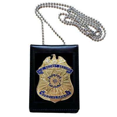 Prop US Secret Service SS Special Agent Badge Card ID Card Holder Collection