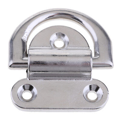 "Boat Folding Pad Eye, 2.7"" wide 5/16"" ring 316 Stainless Steel"
