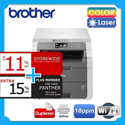 Brother DCP-9015CDW 3-in-1 Color Laser Wireless Printer+Duplex+AirPrint *RFB*