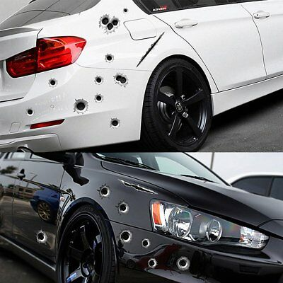 3D Bullet Holes Car Sticker Scratch Decal Waterproof Motorcycle Stickers 21X30CM