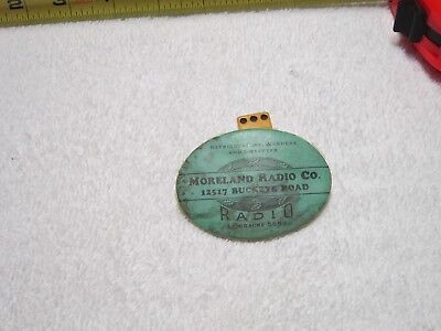 Antique Moreland Radio Co. Advertising Pocket Mirror