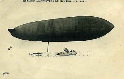 CPA 80 Somme GRANDES MANOEUVRES DE PICARDIE Le Dirigeable ZODIAC