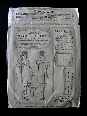 Antique Vintage 1920S Mccall Flapper Chemise Bloomer Drawers Sewing Pattern 2787
