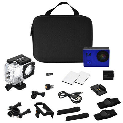 Full HD 1080P Waterproof Sport Camera Action Camcorder as Go Pro W/ 10+ items