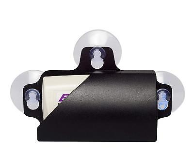 Black Windshield Removable Toll Ez Pass Transponder Tag Holder Mount Suction Cup