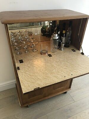 Mid century vintage cocktail drinks cabinet not ercol.