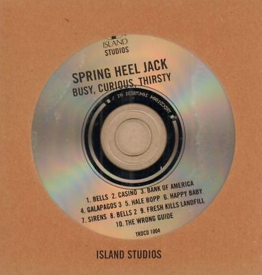 Spring Heel Jack(Promo CD Album)Busy, Curious, Thirsty-Island-TRDCD 100-New