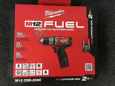 Milwaukee M12Cdd-202C M12 Fuel™ Compact 2-Speed Drill Driver - 4933440572