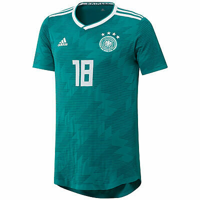 Official Germany Knitted Football Away Shirt Jersey Tee Top 2018 Mens adidas