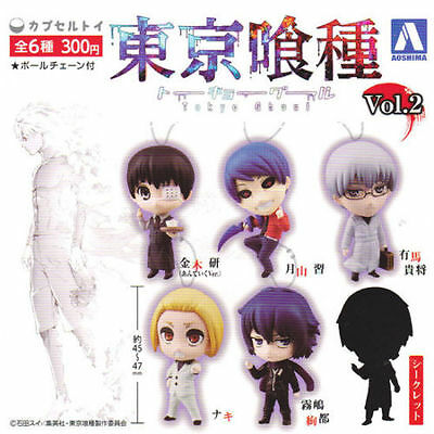 Aoshima Tokyo Ghoul Root A SD Key Chain Figure Swing Collection Vol 2 Set of 6