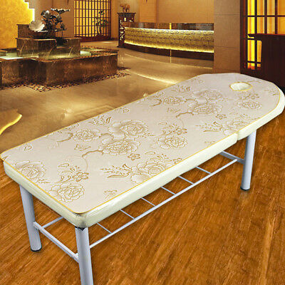 Beauty Massage SPA Treatment Soft Ice Silk Bed Table Cover Sheet Peony-Gold