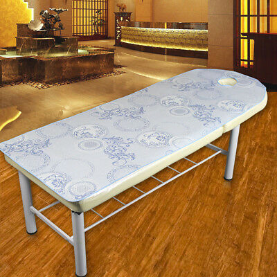 Beauty Massage SPA Treatment Soft Ice Silk Bed Table Cover Sheet Circle-Blue
