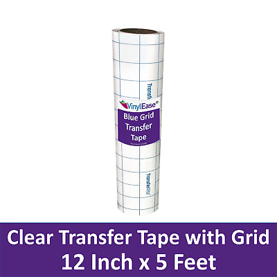 12 in x 5 ft Roll Clear Med Tack Transfer Tape with Easy Alignment Grid V0828