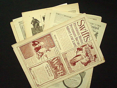 Lot # 20) Six Pages Advertisements CREAM OF WHEAT, CORSETS, PENS, COFFEE, SHOES