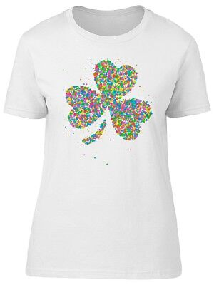 Colorful Clover Doodle Women's Tee -Image by Shutterstock