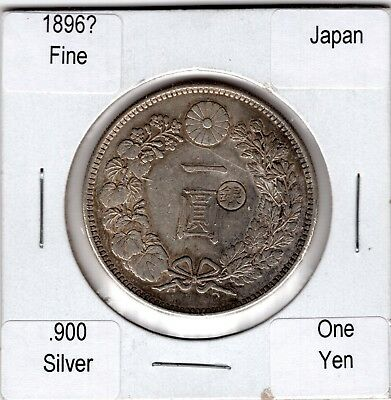 Japan 1896?, Silver One Yen, Fine to Very Fine Circulated Condition