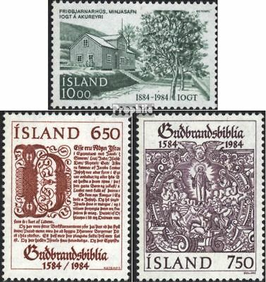 Iceland 618,626-627 (complete.issue.) unmounted mint / never hinged 1984 guttemp