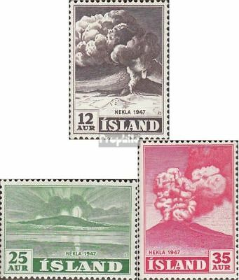 Iceland 247-249 unmounted mint / never hinged 1948 Heklaausbruch
