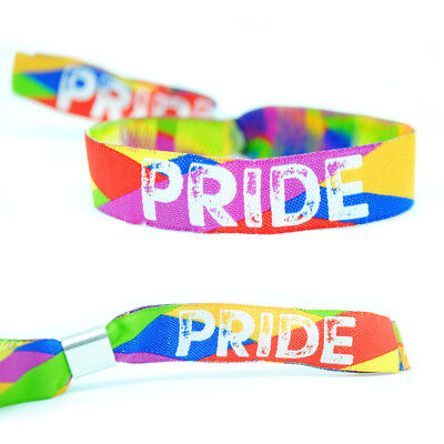 PRIDE Wristband - Gay Pride Parade Wristbands - LGBT Rainbow Pride Accessories