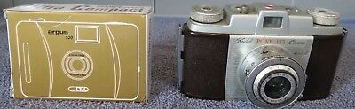 Lot Of 2 Vintage Cameras: Pony 135 & Argus 35mm Ultra Compact - Untested