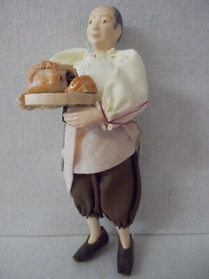 Dollhouse Estate Sale Artisan Sculpted doll Male Cook with Food