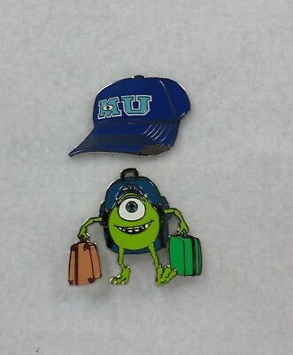 Disney Parks Pin 2 Set Monsters University Mike Wazowski Hat Backpack 6 95 Picclick