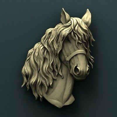 3d STL Model Relief for CNC Router Aspire Artcam _ Horse Head