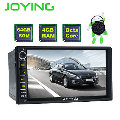 4G+64G Android 8.0 GPS Car Stereo Radio 8-core Video Out AUX Bluetooth Head Unit