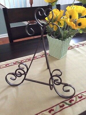 Vintage Style Wrought Iron Cookbook Stand