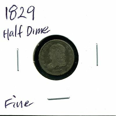 1829 H10C Capped Bust Half Dime in Fine Condition
