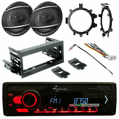 "Pioneer Bluetooth Radio, Kit, Harness,2x 6.5"" 2-Way Speakers, Brackets, Adapter"