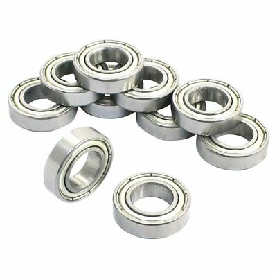 10Pcs 6800Z 10 x 19 x 5mm Single Row Shielded Deep Groove Ball Bearing B1Z2