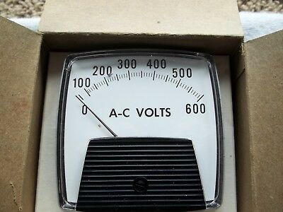 AC Voltmeter by GE (0-600) New-Free Ship