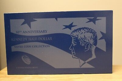 50th Anniversary Kennedy Half-Dollar Silver Collection with Box & COA