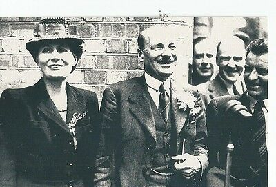 Repro Nostalgia Collector's Club Postcard, Clement Attlee, Election Victory 1945