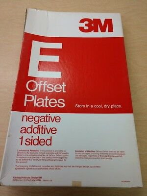 1 1/2 boxes unused offset printing supplies - offset plates - negative additive