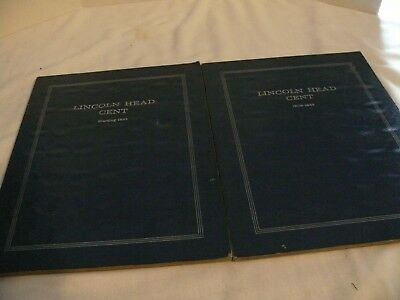 Lincoln Head Cents - Two Books Incomplete - 1913 - 1964