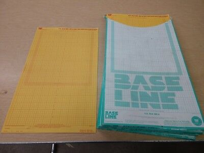 3 boxes (and a few) unused offset printing supplies - base line masking sheets
