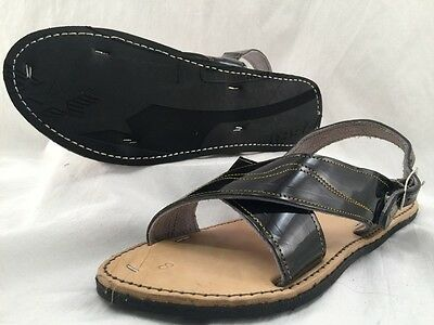 MENS LEATHER MEXICAN two strap SANDALS HUARACHE with TIRE SOLE *ALL SIZES*