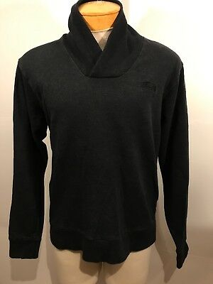 Vintage Stussy Men's Sweater Pullover Size Large Black Grey Embroidery Logo F8