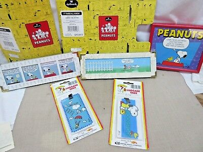 5 pcs. PEANUTS GANG & SNOOPY - Pictures, Luggage Tags, Hallmark Gallery