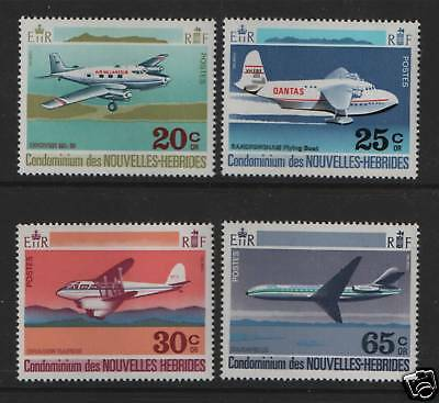 New Hebrides (French) 1972 Aircraft SG F169/72 MNH