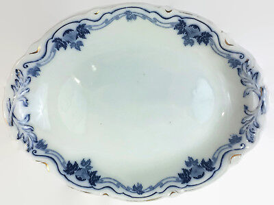 W.H. Grindley The Hofburg The Imperial Flow Blue 14 inch Oval Serving Platter