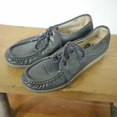 75484639167 Vintage SAS Bounce Handsewn Gray Leather Granny Comfort Loafers Shoes 8.5N  39