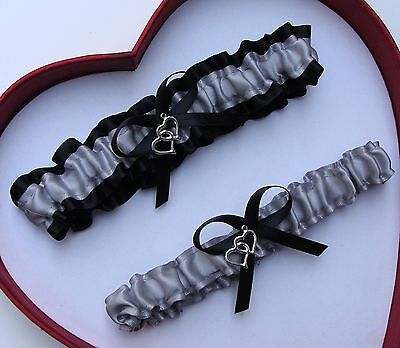 NEW Gorgeous Silvers Black Wedding Garter Prom Homecoming GetTheGoodStuff A+SEXY
