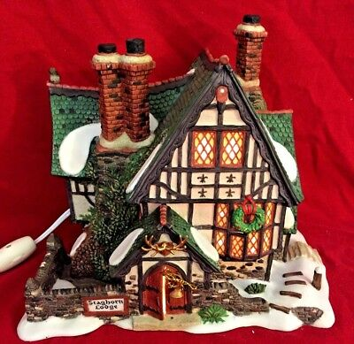 Stagohorn Lodge Dept 56 Dickens Village 58445 Christmas hunting city snow INC